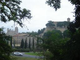 vue sur les remparts et la cathédrale