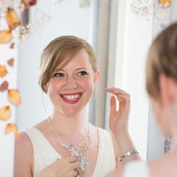 Ivy Leaves Necklet - Leaf nature bridal wedding jewellery