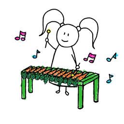 Beatrice Winkel - Trixilie's carrot-xylophone