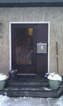 Haustüre in Wuppertl vorher