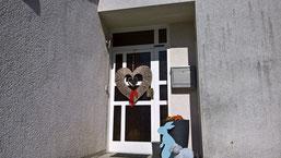 Haustüre in Neviges vorher