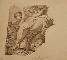 Emile Rousseaux, copie d'un détail d'estampe, musée Boucher-de-Perthes / Photo YF