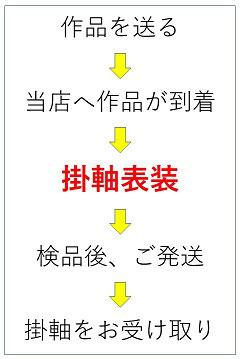 掛軸三段表装(尺五横)