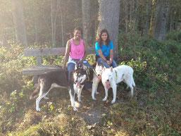 Ich Merkur mit Freundin Skeena und Kumpel Snow