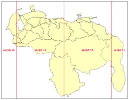 HUSOS UTM DE VENEZUELA