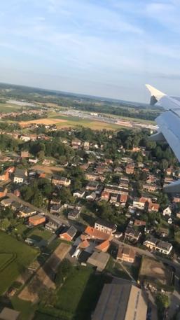 ブリュッセル上空