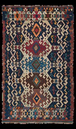 Teppich. Zürich. Antique Karakecili Kilim, wool. Handgewebter Teppich, antik Kelim. Laden, Zürich, Schweiz.