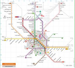 Cartina trasporti pubblici  Milano ferrovie locali regionali Meda