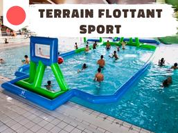 Water Polo/Basket/Volley ! 1 terrain flottant pour 3 activités, de quoi passer une bonne journée dans l'eau !
