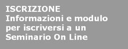 Seminari on line - Iscrizione