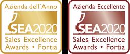 Il logo di Azienda dell'Anno 2020 e di Azienda Eccellente 2020 attribuiti dai Sales Excellence Awards.