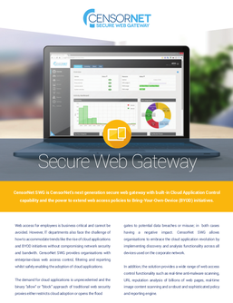 CensorNet Secure Web Gateway