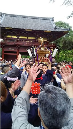 根津神社例大祭,二十三ヵ町宮入,2016年