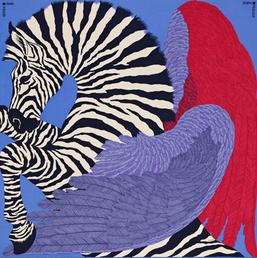 carré zèbre pegasus hermès foulard mode soie dessin