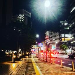 夜の千葉市写真