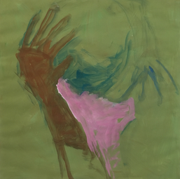 Gedanken in Rosa, Acryl auf Papier, 2017
