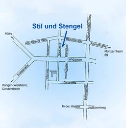 """""""Stadtplan"""" vun Hochborn"""
