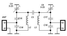 Схема полосового фильтра