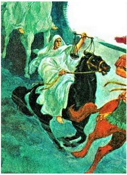 La balance portée par le cavalier chevauchant le cheval noir annonce la famine au temps de la fin