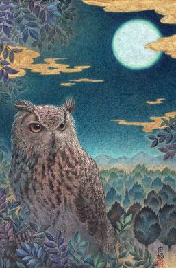 望  日本画 22.7x15.8cm