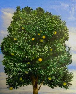 「雨上がりの果実」 油彩・テンペラ F3