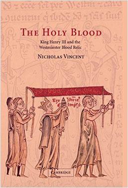 """Jaquette du """"The Holy Blood"""" de Nicholas Vincent"""