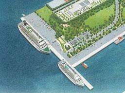 新港地区の完成イメージ図