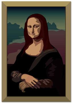 注意:モナリザの絵の展示はありません。