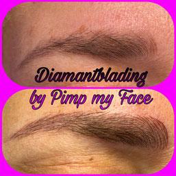 Diamantblading - Augenbrauen - Pimp my Face Hamburg Bramfeld - Permanent Make Up - Microblading