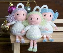 Cómo tejer ángeles a crochet en la técnica del amigurumi