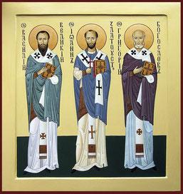 Ікона трьох святителів: свтт. Василій Великий, Григорій Богослов та Іоанн Златоуст