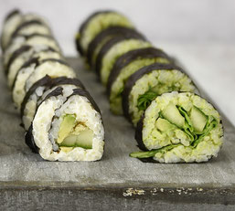 Vegetarische bzw vegane Maki Rolls selbst gemacht