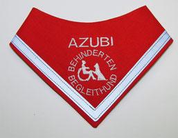 Behinderten Begleithund Azubi, Kenndecke / Halstuch, neongelb