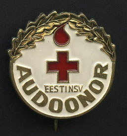 URSS Rusia Estonia Medicina honorable blood-donor Cruz Roja Pin Insignia