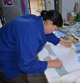 Heather is busy in the Art Studio at KCAC