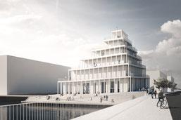 So sehen Sieger aus: Die neue Kirche im Sydhavn lässt sich jederzeit von außen erklimmen. Foto: JAJA Architects/PR