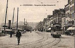 Le tramway avait disparu, pas ses rails ...
