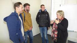 Kordula Kovac diskutiert mit unseren Studenten aus den Studiengängen Sport- und Eventmanagement sowie Gesundheits- und Tourismusmanagement