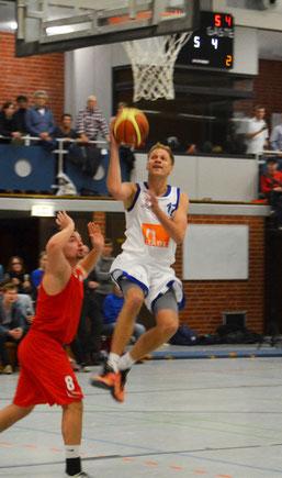 Florian Bunde machte eine gute Partie und wurde zweitbester Scorer seines Teams. (Foto: Fromme)
