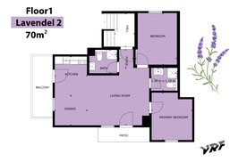 Sketch of our apartment Lavender II