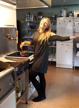 Johanna in der Vadstena-Küche