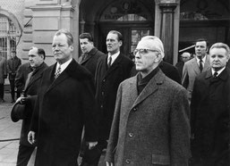 Willy Brandt mit Willy Stoph in Erfurt 1970