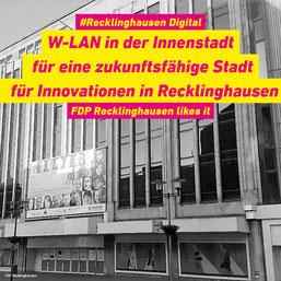Recklinghausen wird digital - die FDP begrüßt diese Planung