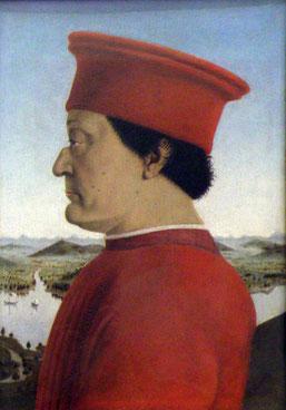 Piero della Francesca: Federico da Montefeltro (1465-1466) © Marcus Schmitz