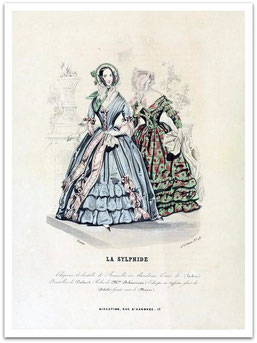 La Slyphide, fashion plade no 3, 1840 (flickr, picture by CharmaineZoe's Marvelous Melange) - Victorian fashion dress