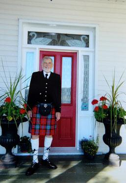 Mr. Ross McLean, great nephew of Hector L. McLean, visiting the Queen's Inn