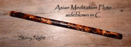 Asian Meditation Flute sideblown in C - Starry Night