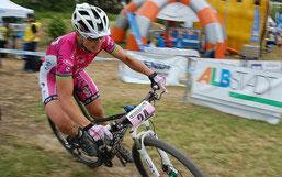 Sabine Spitz beendete das Rennen auf Rang neun ©sst