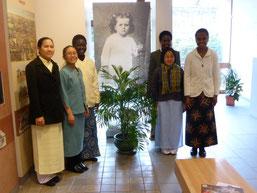 Délégation des Travailleuses missionnaires venues pour l'anniversaire de la naissance de Sainte Thérèse