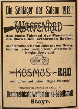 Österreichische Nähmaschinen- und Fahrrad-Zeitung  Di, 5. März 1912
